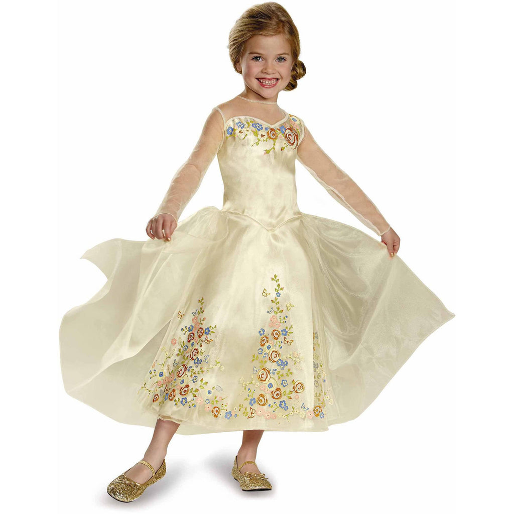 Cinderella Movie Cinderella Wedding Dress Deluxe Child Halloween Costume - PitaPats.com