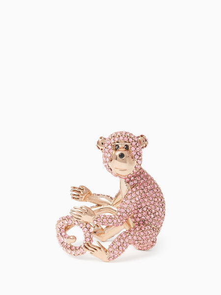Kate Spade rambling roses monkey ring
