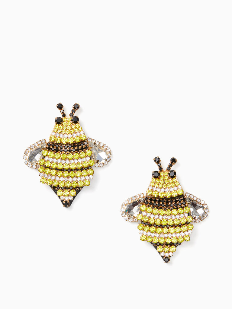 kate spade new york picnic perfect jeweled bee statement studs earring