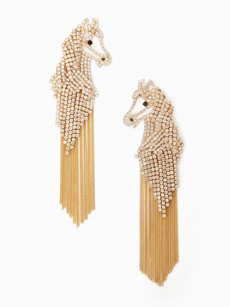 kate spade new york wild ones small statement horse earrings