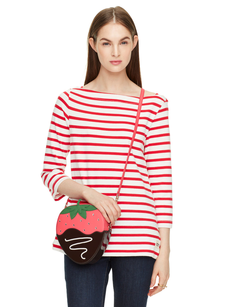 kate spade creme de la creme strawberry crossbody - PitaPats.com