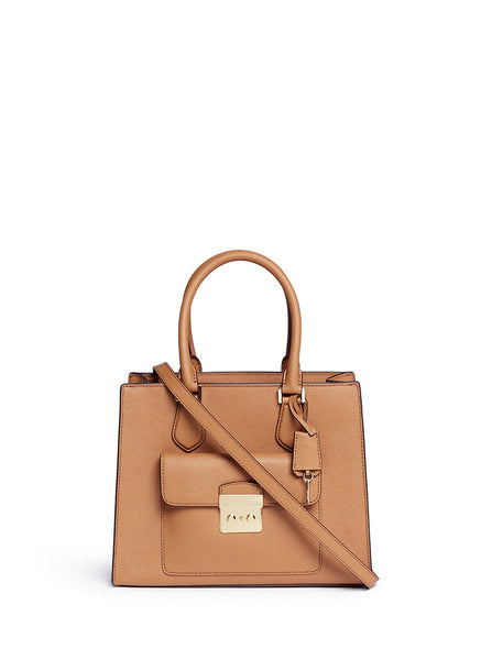 MICHAEL KORS Bridgette Medium Saffiano Leather Tote