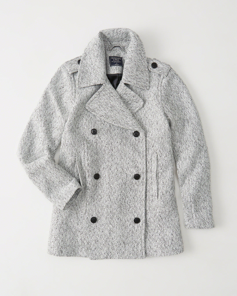 Abercrombie & Fitch WOOL-BLEND PEACOAT - PitaPats.com