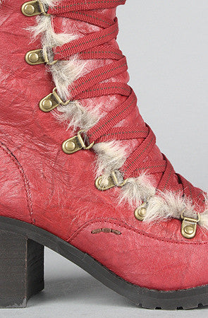 BC Shoes - The Archives Boot in Red - PitaPats.com