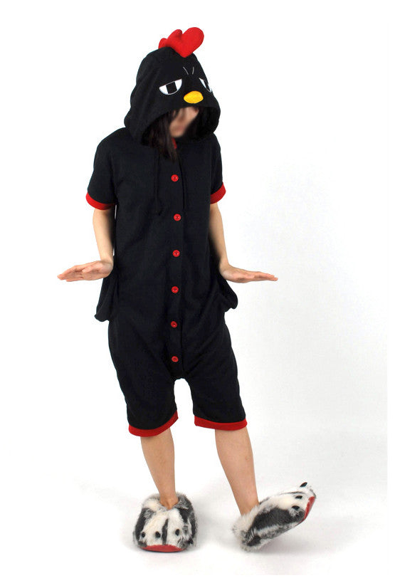 PITaPATs onesie animal jumpsuit costume - short sleeve black chicken
