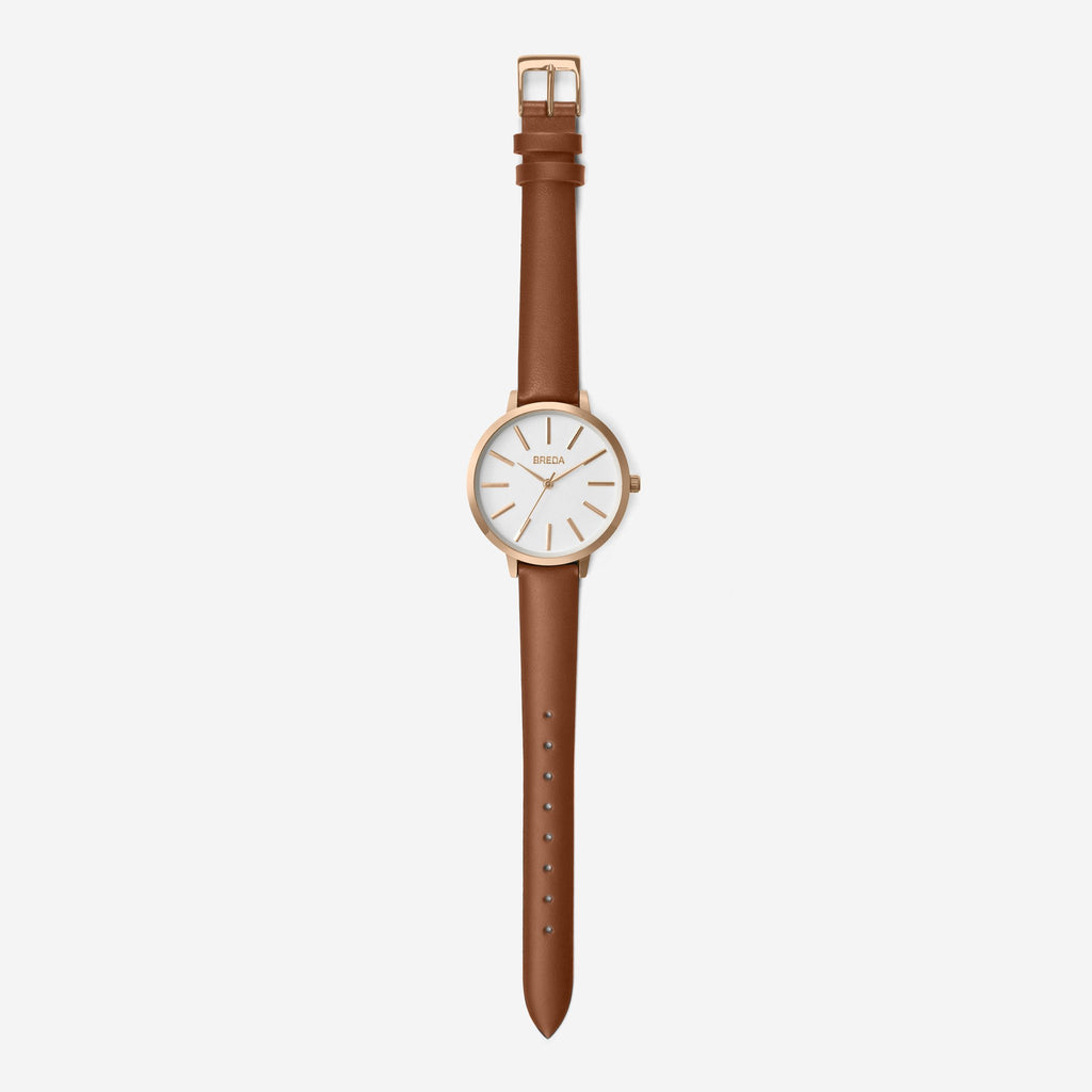BREDA Women's Joule Leather Strap Watch, 37mm