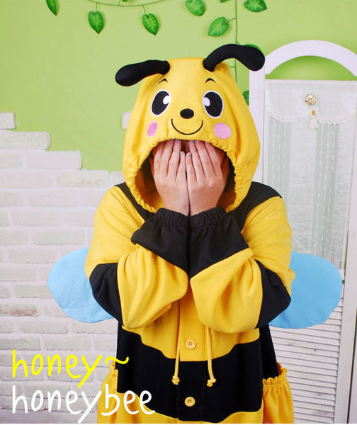PITaPATs kids onesie animal jumpsuit costume - long sleeve bumblebee
