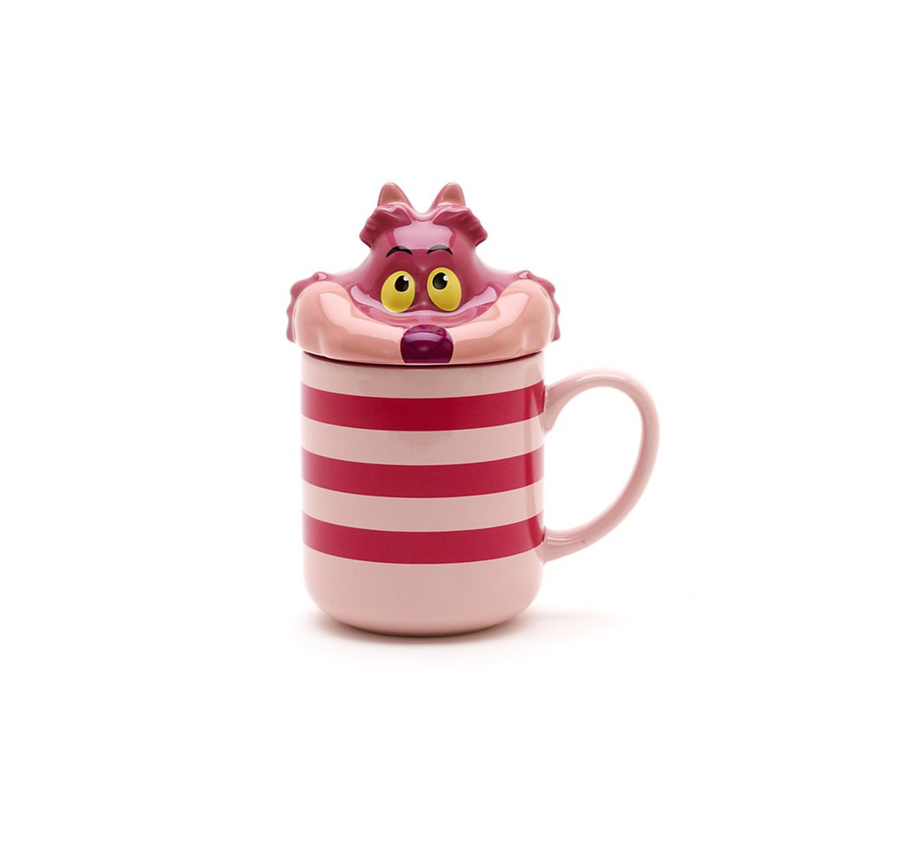 Disney Cheshire Cat Paw Peek-a-Boo Lid Mug