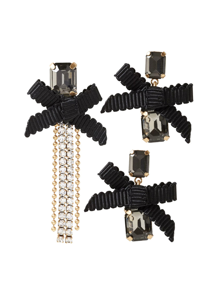 Banana Republic Jeweled Ribbon Asymmetrical Earring Set - PitaPats.com