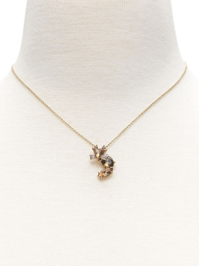 Banana Republic Jeweled Fox Necklace - PitaPats.com