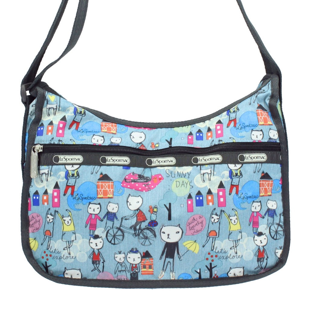 LeSportsac Printed Hiking Day Hobo Crossbody Bag