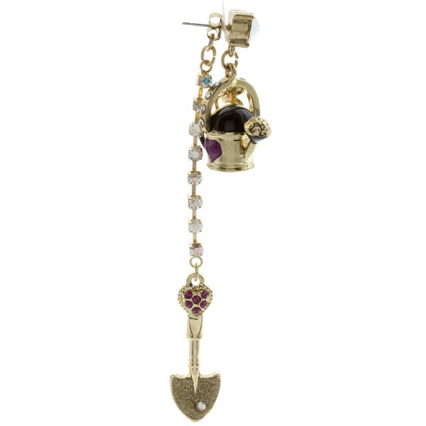 Betsey Johnson Farm Girl Mismatch Earrings - PitaPats.com
