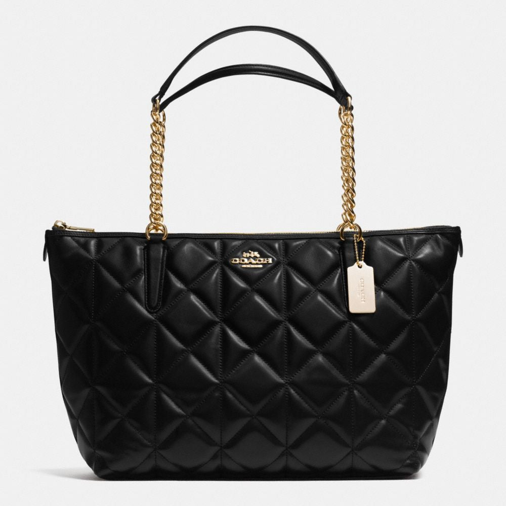 COACH AVA CHAIN TOTE IN QUILTED LEATHER - PitaPats.com