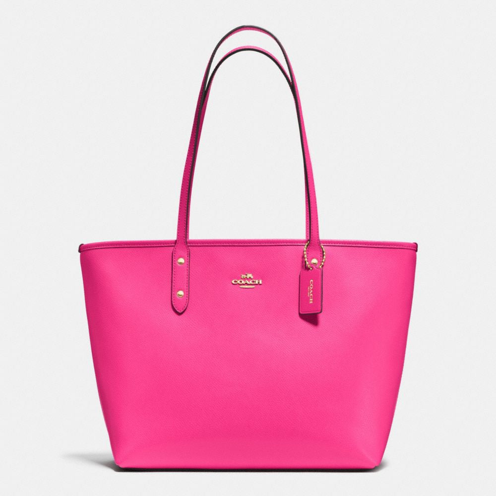 COACH CITY ZIP TOTE IN CROSSGRAIN LEATHER - PitaPats.com
