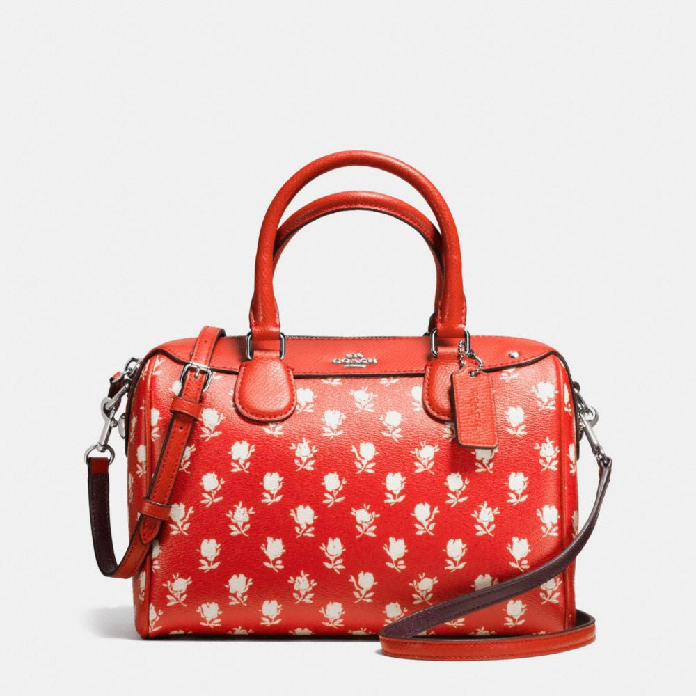 COACH MINI BENNETT SATCHEL IN BADLANDS FLORAL PRINT COATED CANVAS - PitaPats.com
