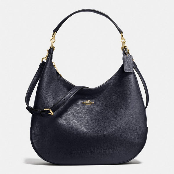 COACH HARLEY HOBO IN PEBBLE LEATHER MIDNIGHT