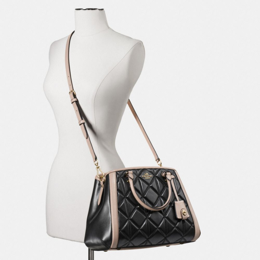 COACH SMALL MARGOT CARRYALL IN QUILTED COLORBLOCK LEATHER - PitaPats.com