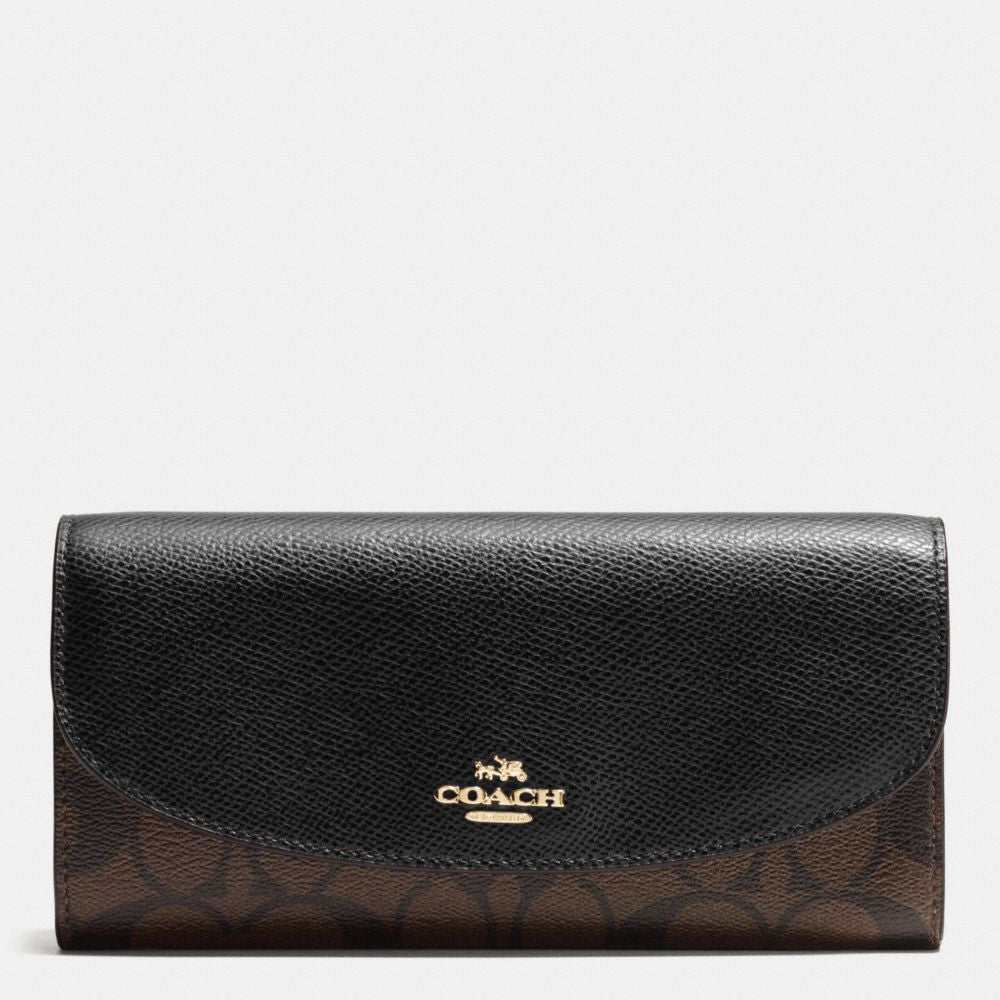 COACH SLIM ENVELOPE WALLET IN SIGNATURE - PitaPats.com