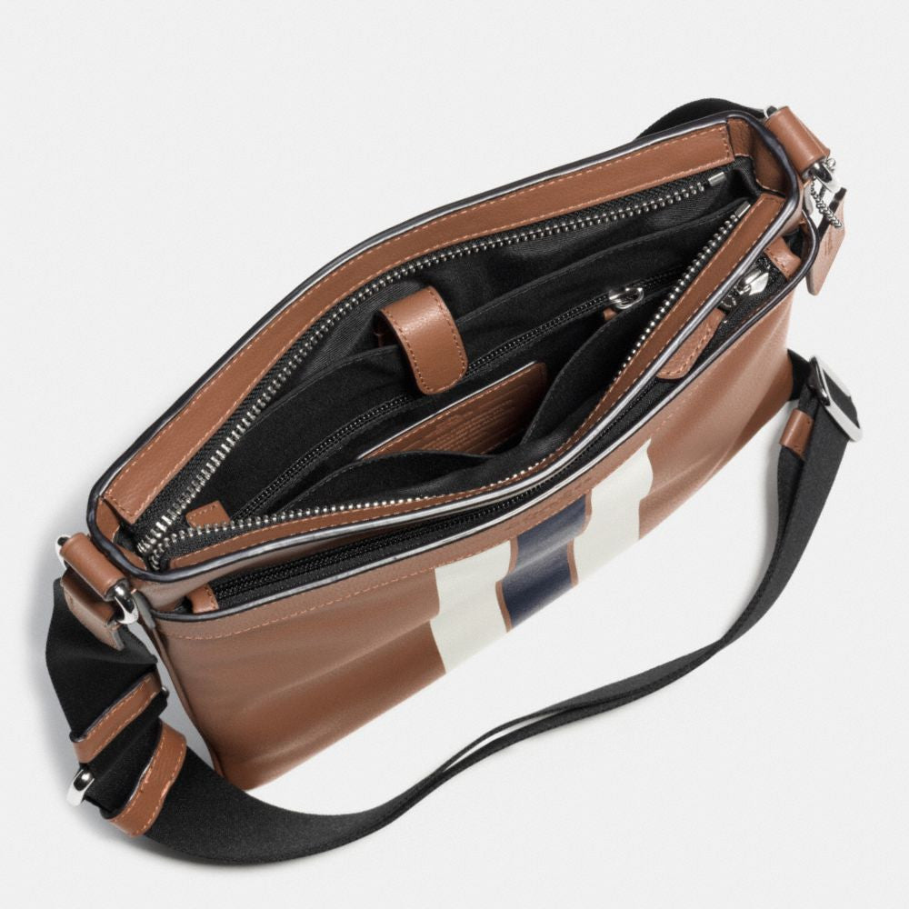 COACH CHARLES CROSSBODY IN VARSITY LEATHER - PitaPats.com