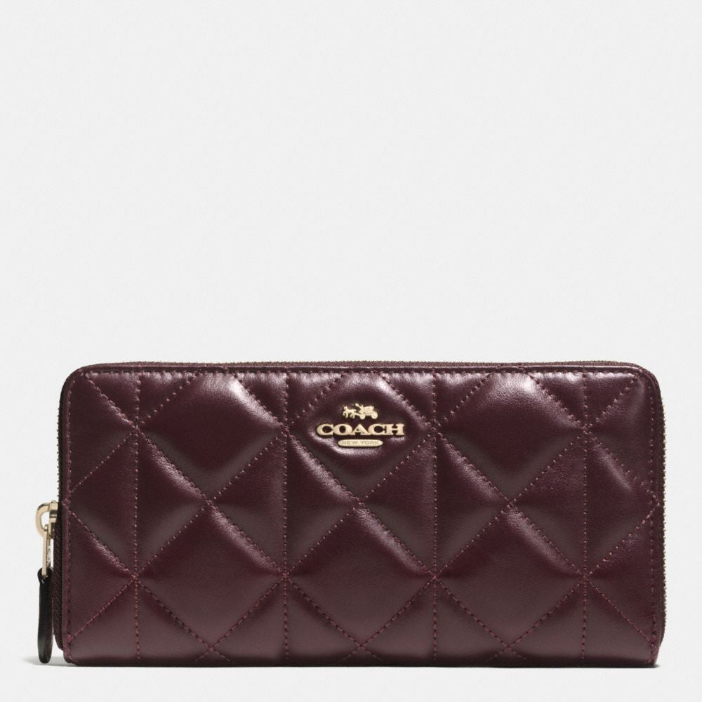 20a7f31f6957 COACH ACCORDION ZIP WALLET IN QUILTED LEATHER – Pit-a-Pats.com