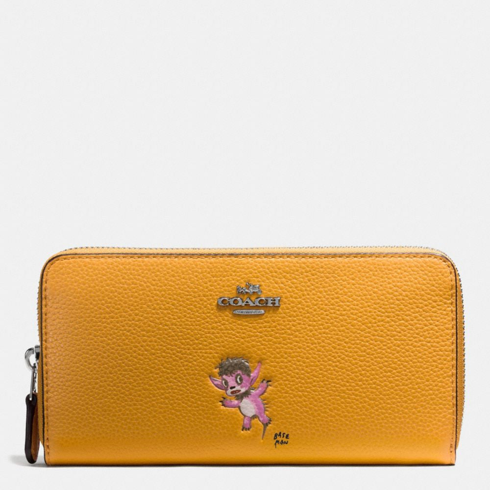COACH BASEMAN X COACH ACCORDION ZIP WALLET IN POLISHED PEBBLE LEATHER - PitaPats.com