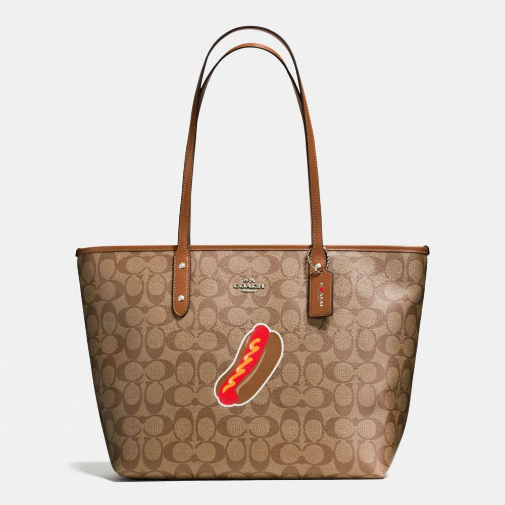 COACH NYC HOT DOG CITY ZIP TOTE IN SIGNATURE - PitaPats.com