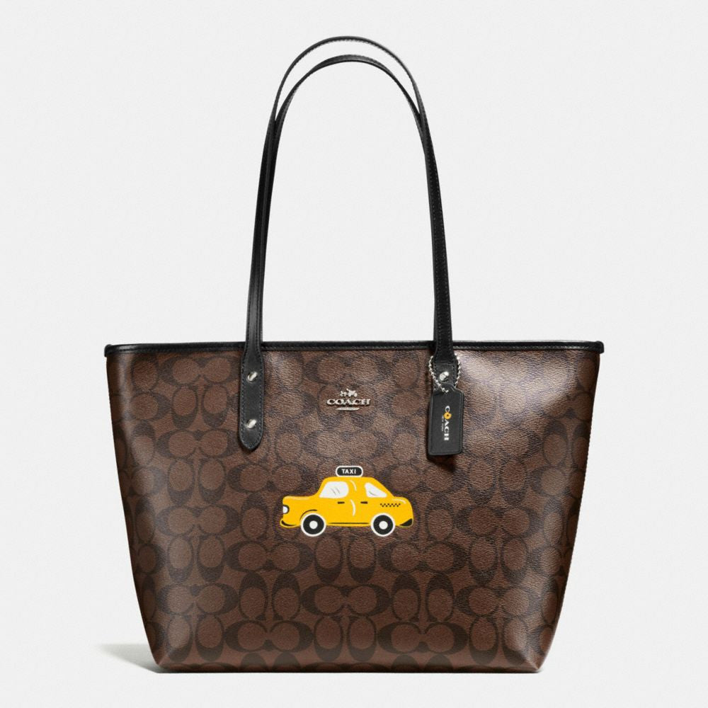 COACH NYC TAXI CITY ZIP TOTE IN SIGNATURE - PitaPats.com