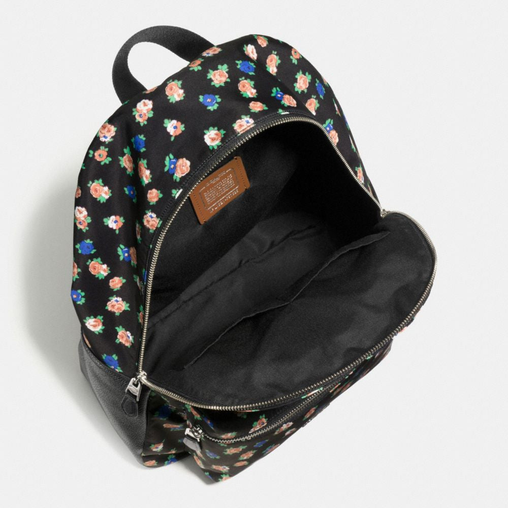 COACH CHARLIE BACKPACK IN TEA ROSE FLORAL PRINT NYLON - PitaPats.com