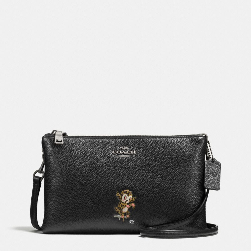 COACH BASEMAN X COACH BUSTER LYLA CROSSBODY IN PEBBLE LEATHER - PitaPats.com
