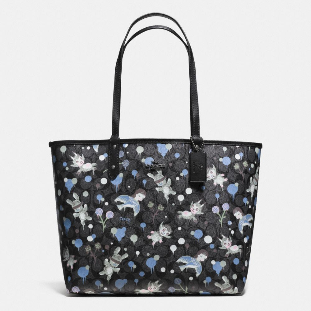 COACH BASEMAN X COACH SECRET ORDER REVERISBLE TOTE IN SIGNATURE COATED CANVAS