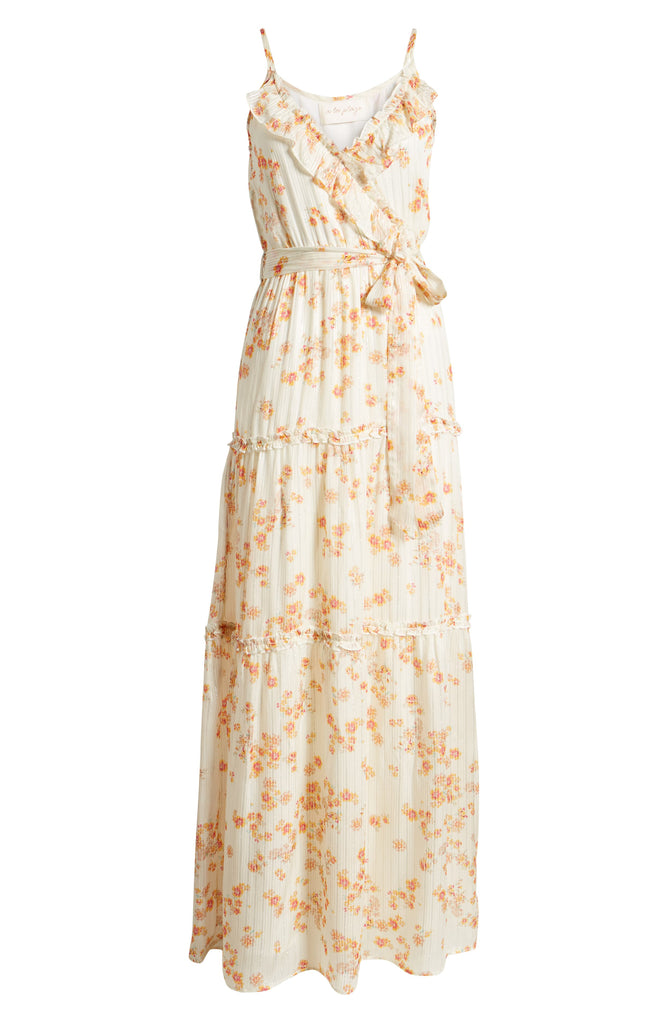 A La Plage Floral Strappy Tiered Maxi Dress