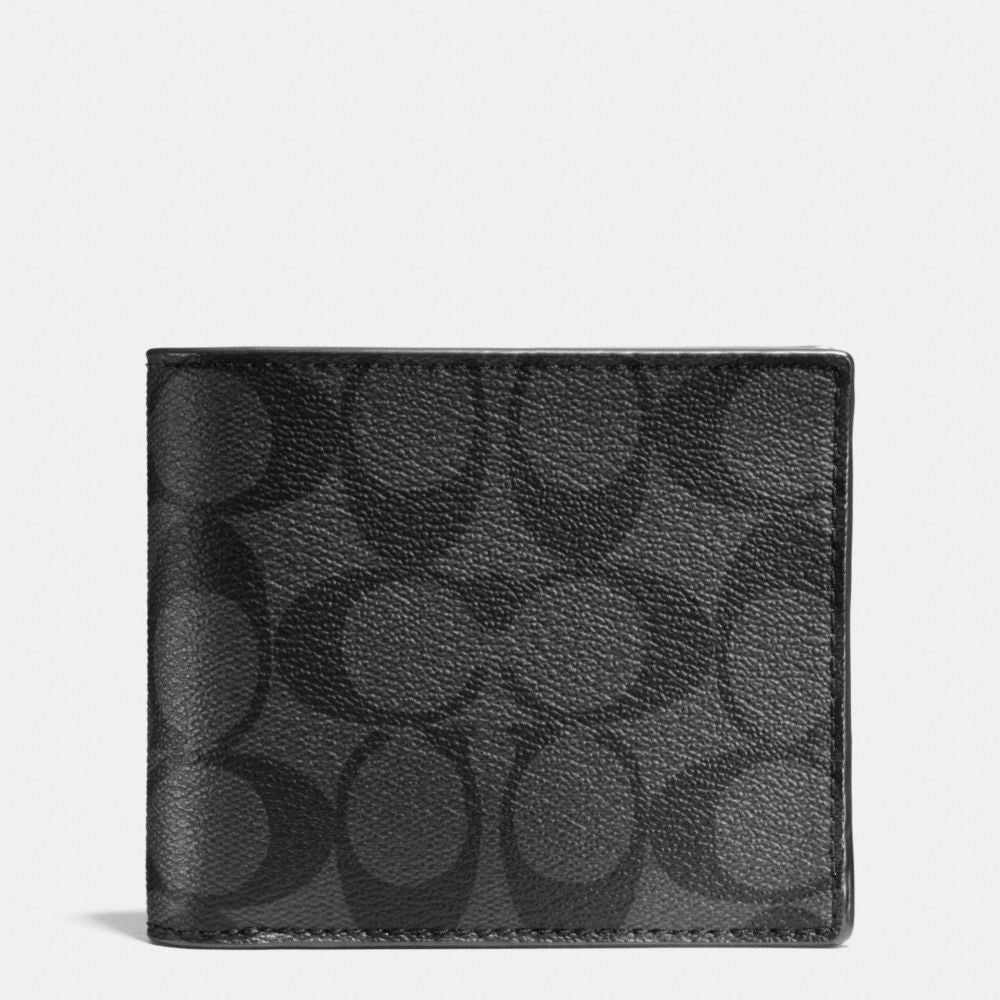 COACH COMPACT ID WALLET IN SIGNATURE - PitaPats.com