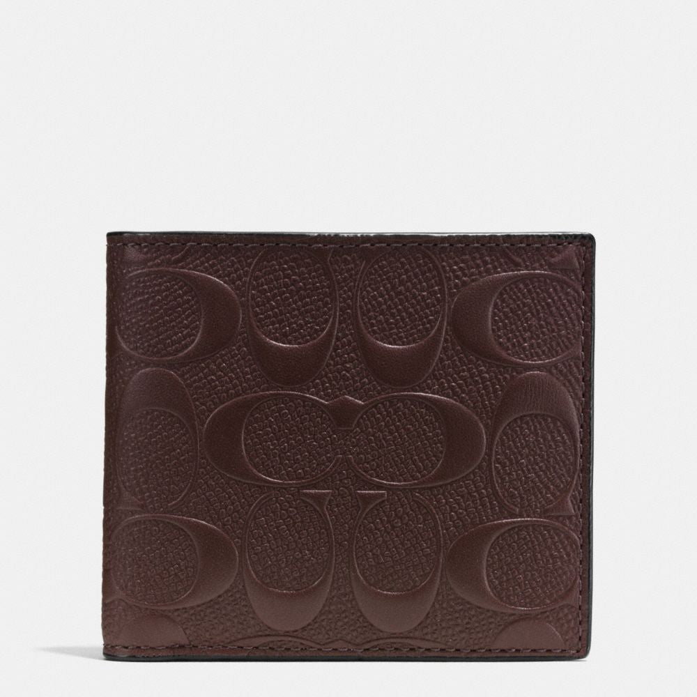 COACH COIN WALLET IN SIGNATURE CROSSGRAIN LEATHER - PitaPats.com
