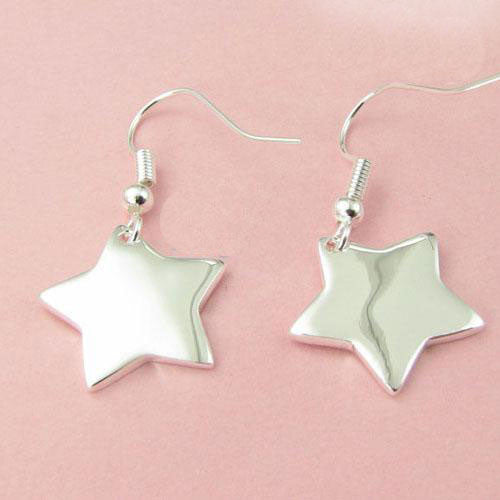 Sterling Silver Star Earring - PitaPats.com
