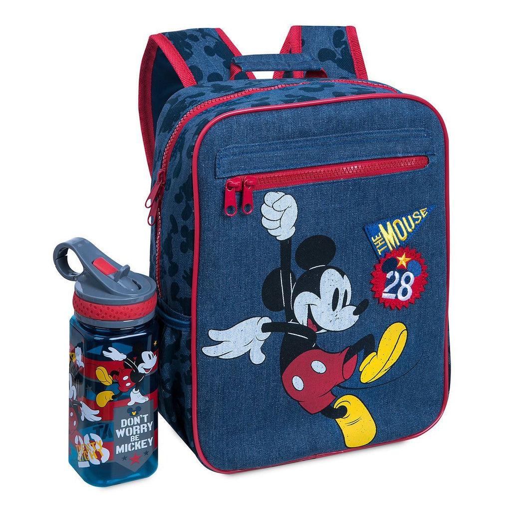 Disney Mickey Mouse Junior Denim Backpack - PitaPats.com
