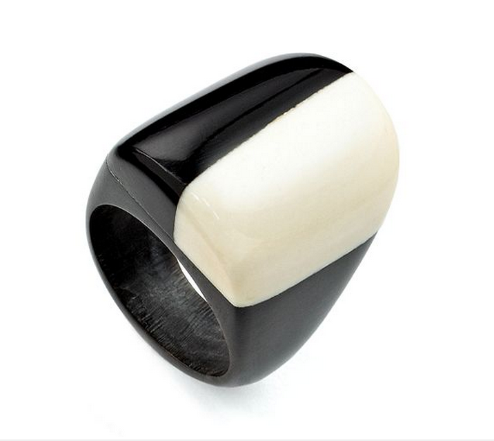 Heart of Haiti Jewelry, Black & White Modernist Ring - PitaPats.com