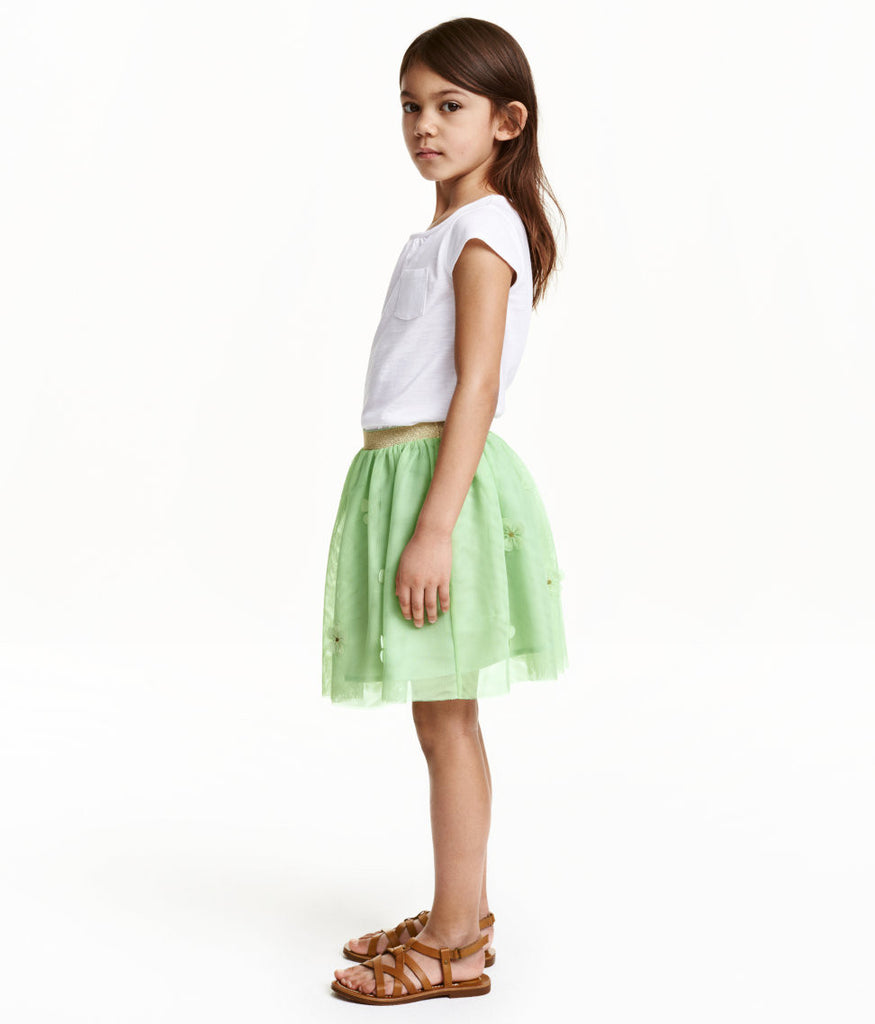 Tulle Little Ballerina Skirt with Flowers - PitaPats.com