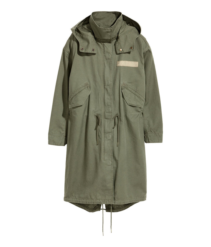 Military look Hooded Anorak Parka with Detachable Lining Coat - PitaPats.com