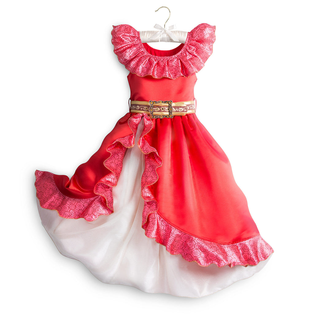 Disney Elena of Avalor Costume Red Dress for Kids