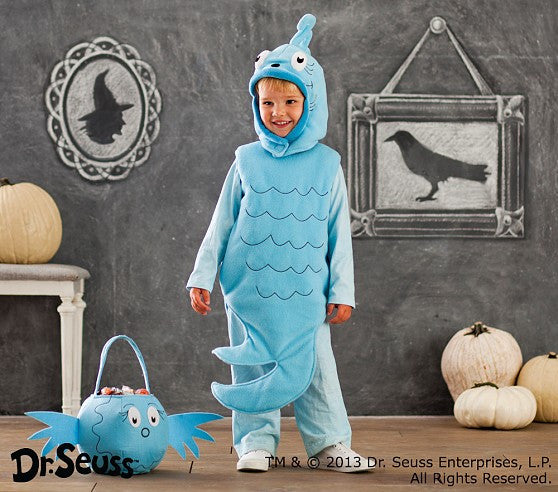 PitaPat Dr. Seuss's™ Blue Fish Halloween Costume, 7-8 - PitaPats.com