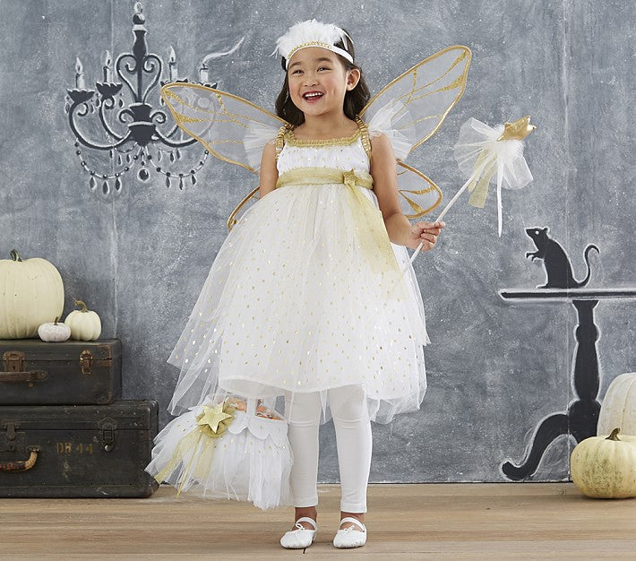 PitaPat Gold Fairy Halloween Costume 7-8 yrs - PitaPats.com