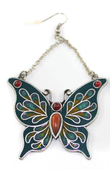 Enamel colored Big Butterfly earring - PitaPats.com