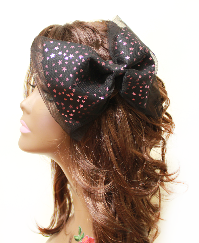 Hot Pink Star Big Bow Headpiece - PitaPats.com