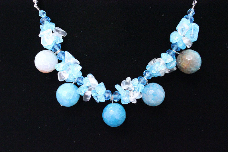 Natural Stone & Glass & Beads Necklace - PitaPats.com