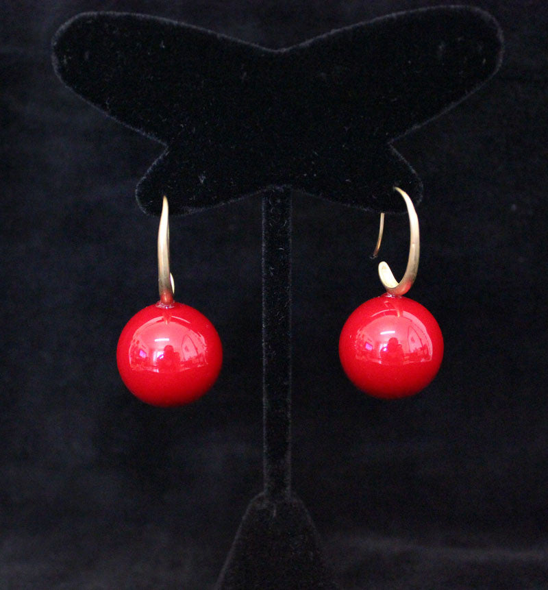 Big Cherry Ball Earring - PitaPats.com