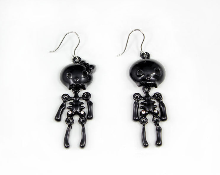 Skeleton Lady and Gentleman Wiggle Earring - PitaPats.com