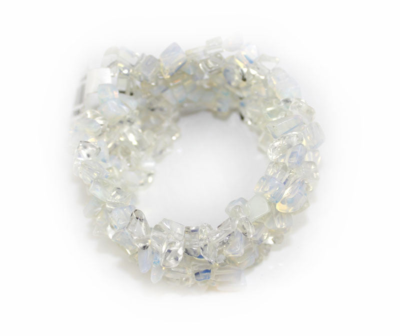 Real Natural Stone White Clear Bracelet - PitaPats.com