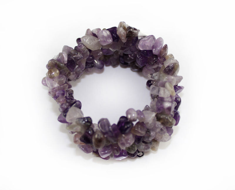 Real Natural Stone Purple Bracelet - PitaPats.com