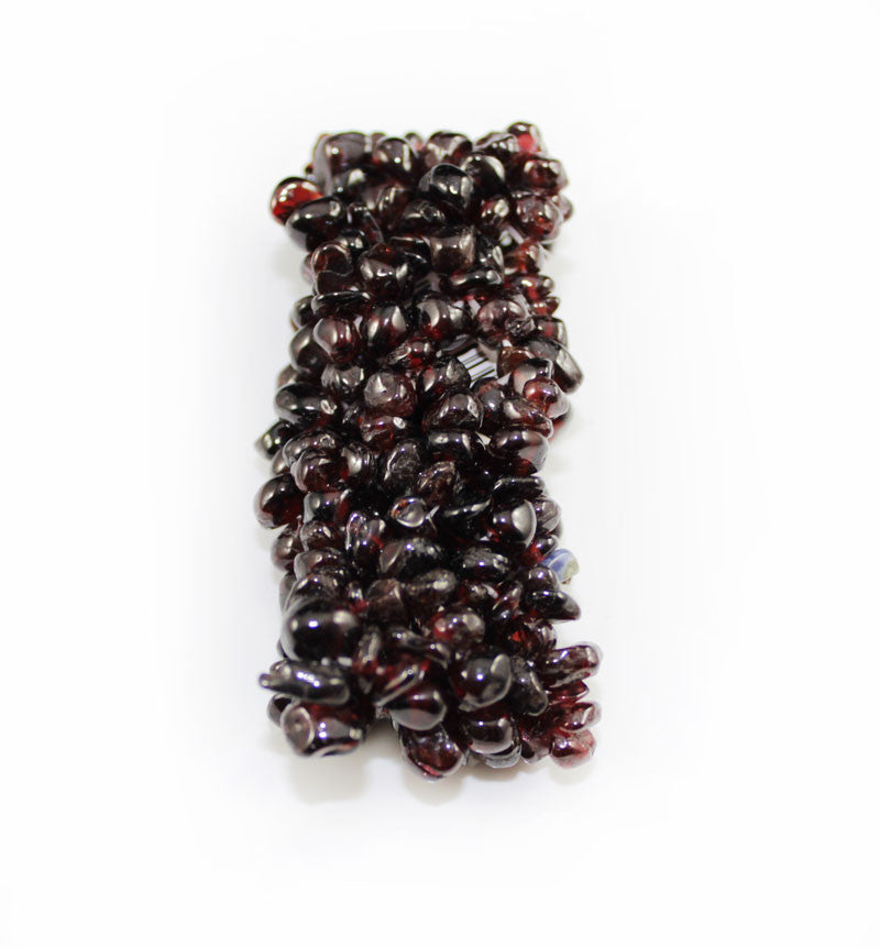 Real Natural Stone Dark Plum Bracelet - PitaPats.com