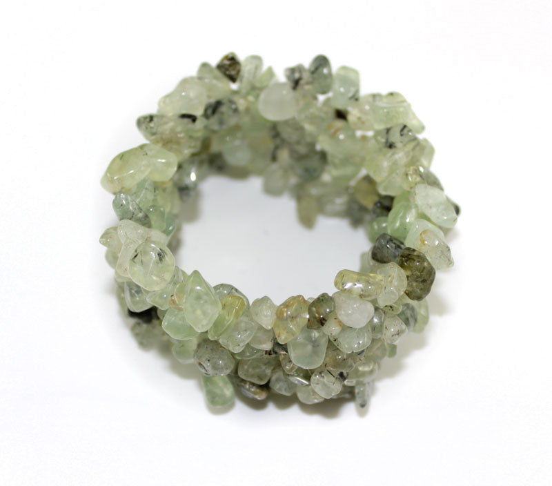 Real Natural Stone Light Khaki Jade Bracelet - PitaPats.com